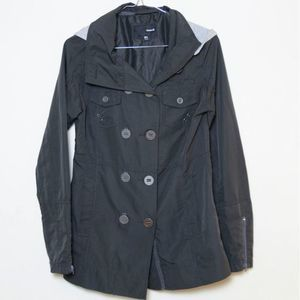 Hurley Grey Hooded Rain Jacket